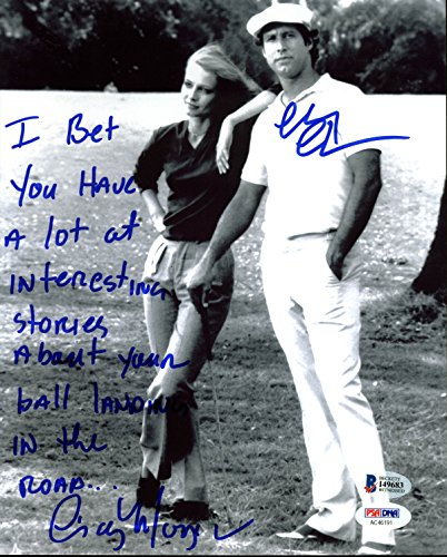 Chevy Chase & Cindy Morgan Caddyshack Authentic Signed 8X10 Photo BAS Witness 1 from PRESS PASS COLLECTIBLES