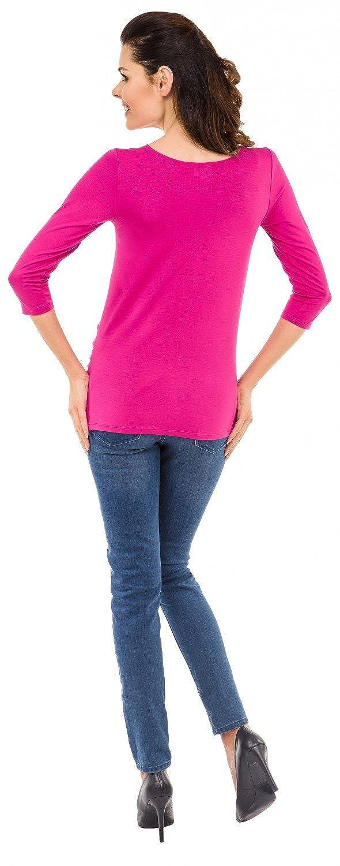 Womens Pregnancy Funny Baby Feet Print T-Shirt Top 548c Zeta Ville Maternity