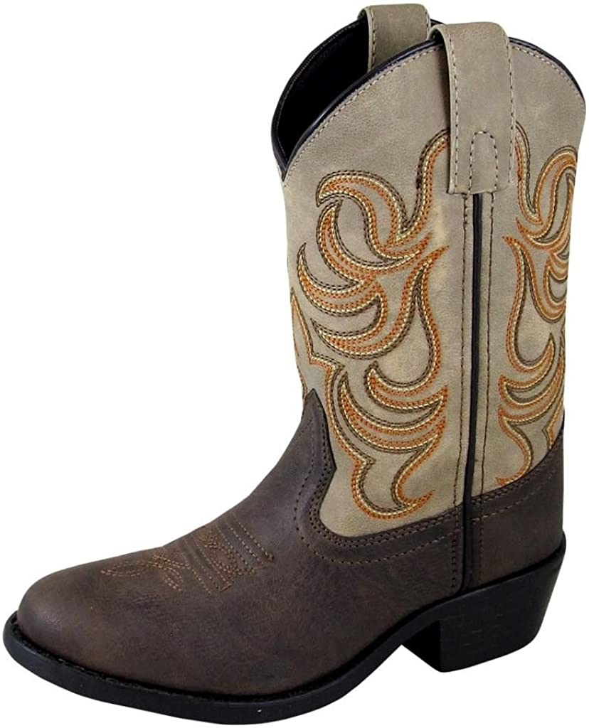 Smoky+Children%27s+Kid%27s+Monterey+Brown+and+Tan+Western+Cowboy+Boot