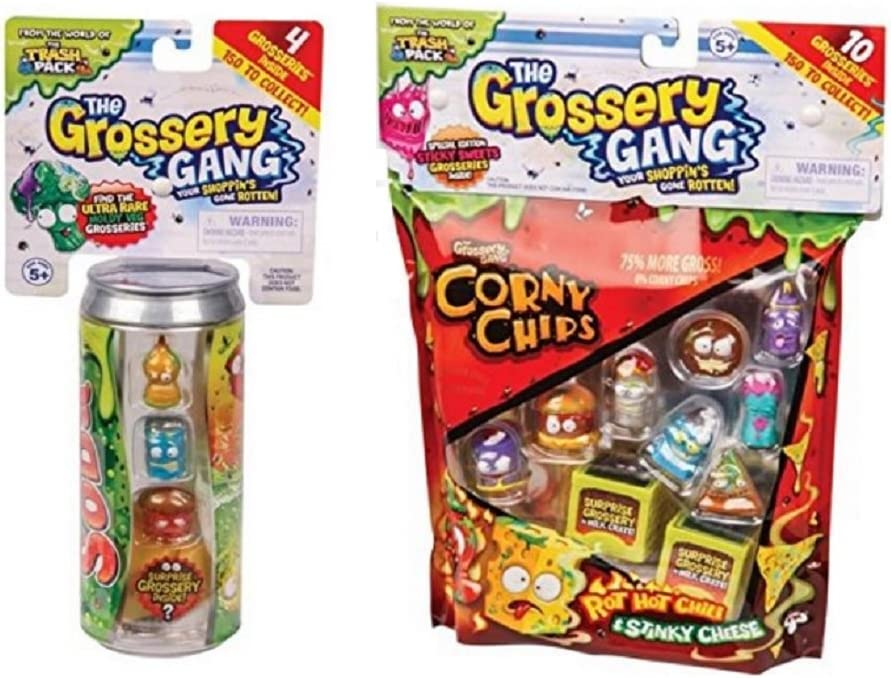 Trash Pack Grossery Gang 14 figure Bundle with Sticky Soda collectors Storage Can by Grossery Gang: Amazon.es: Juguetes y juegos