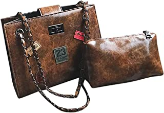 Haughtily Mode Frauen Vintage Abzeichen Mutter Tasche Umhängetasche Metall Leder Kette Handtasche Messenger Eimer Taschen