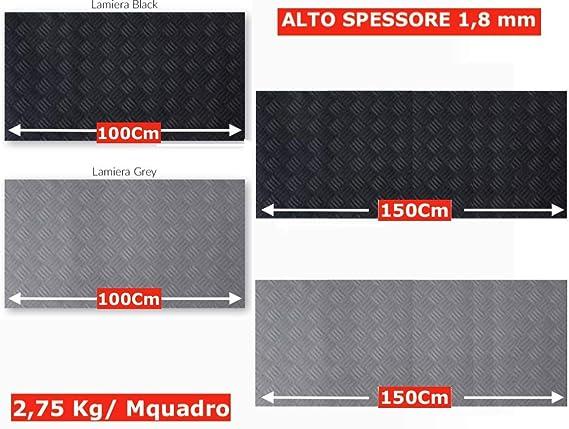 Tappeto Gomma Antiscivolo Nero, 150x150cm Design a Bolle - Pavimenti in Gomma Isolante Tappeti di Gomma a Metro per Industria in Vari Modelli e Misure Passatoia Gomma