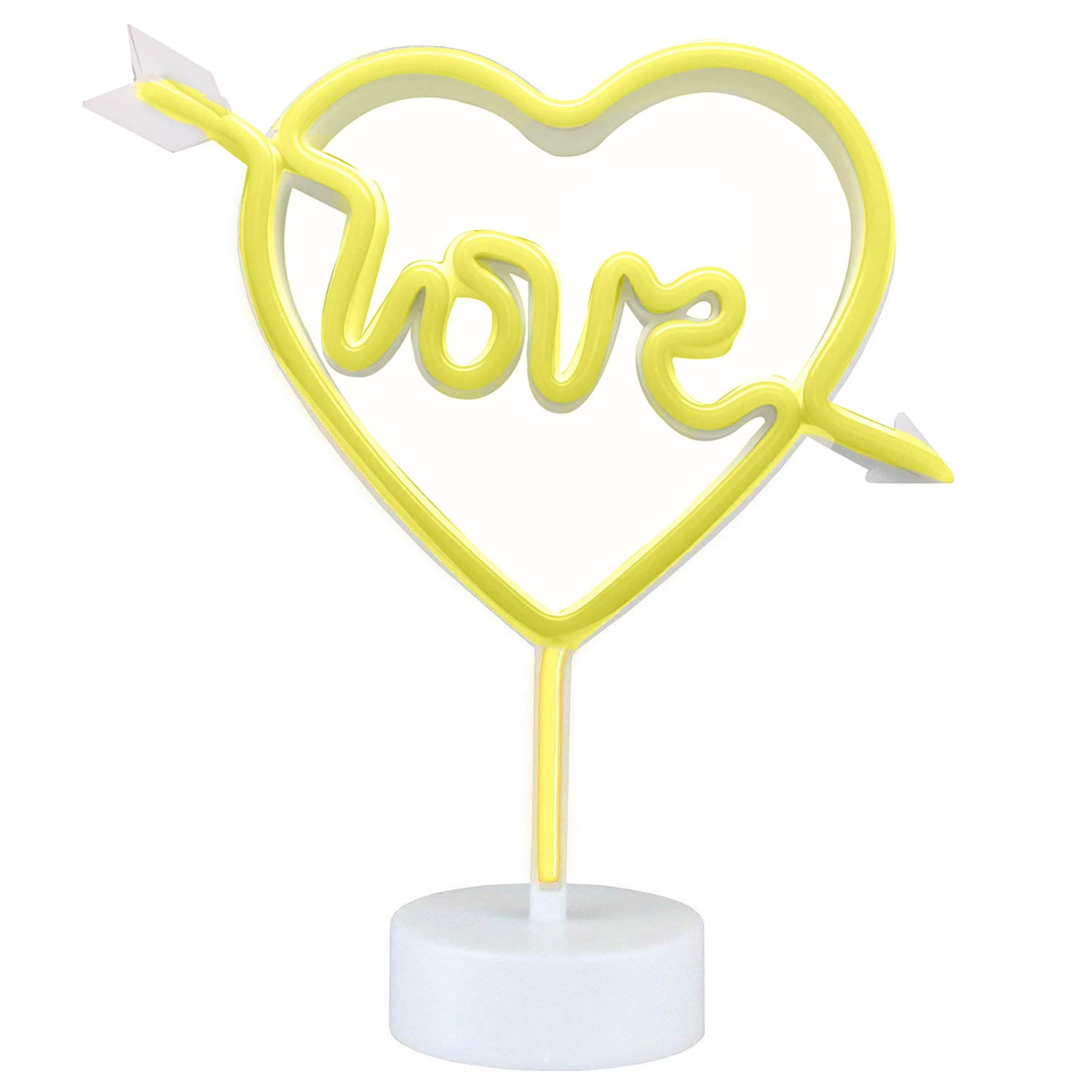 Neon Light Sign,Neon Lamps,Marquee Battery or USB Operated Table Led Ligths Wall Decoration for Girls Bedroom,Living Room, Christmas,Party as Kids Gift (Have Love in My Heart)
