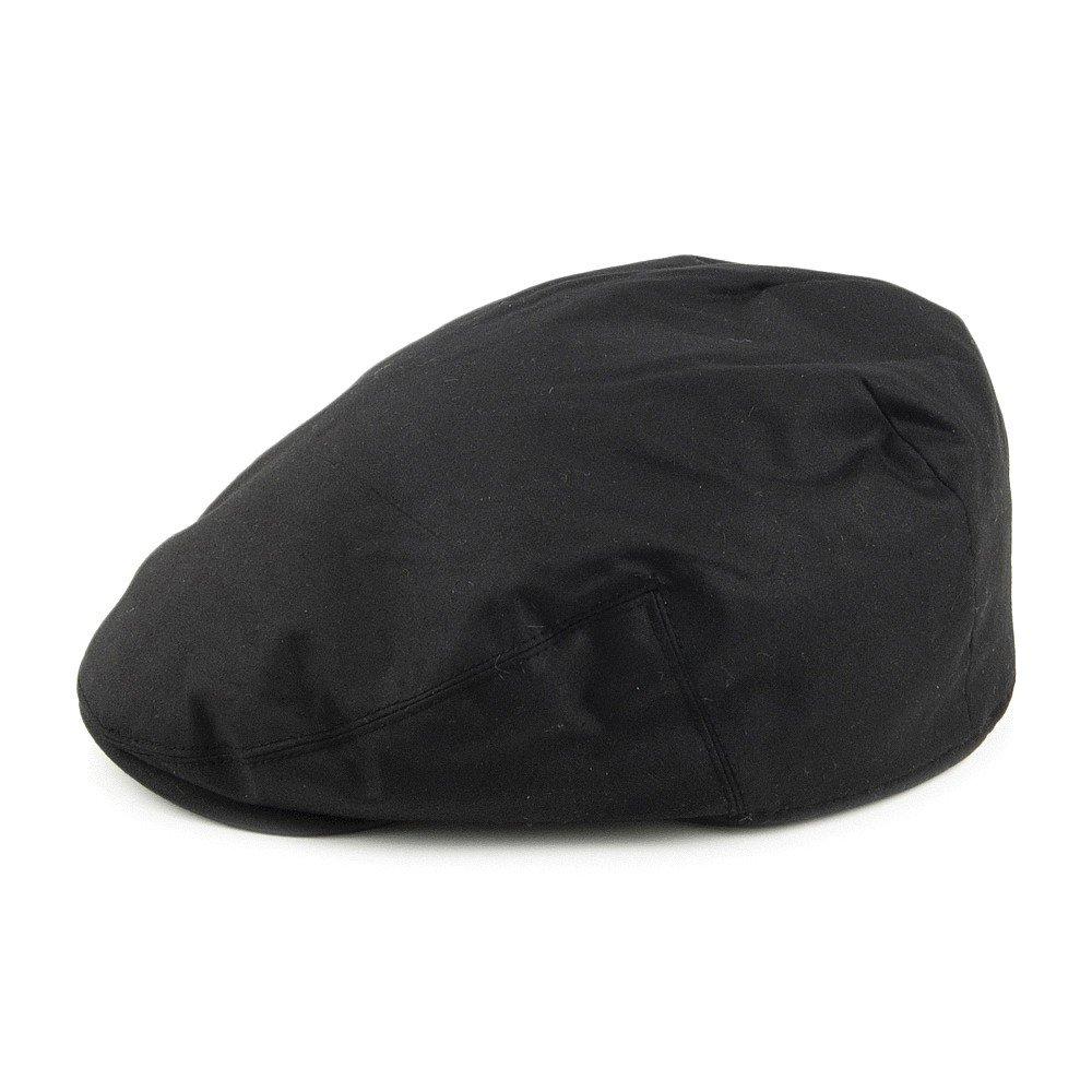 4a0f9d3ed95 Failsworth Hats Waxed Cotton Flat Cap - Black Black 61  Amazon.co.uk   Clothing