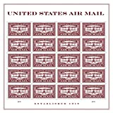 USPS Forever First Class Postage Stamp: Air Mail Red, 5 Sheets (100 Stamps) Wedding Celebration