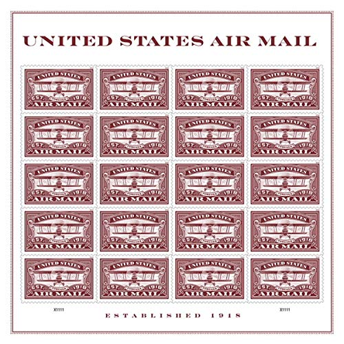 Air Mail Commemorative Forever Stamps by USPS (Red, 1 Sheet of 20) by USPS (Image #2)