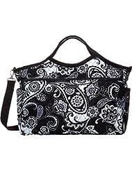 Vera Bradley Luggage Womens Carryall Travel Bag Midnight Paisley Duffel Bag