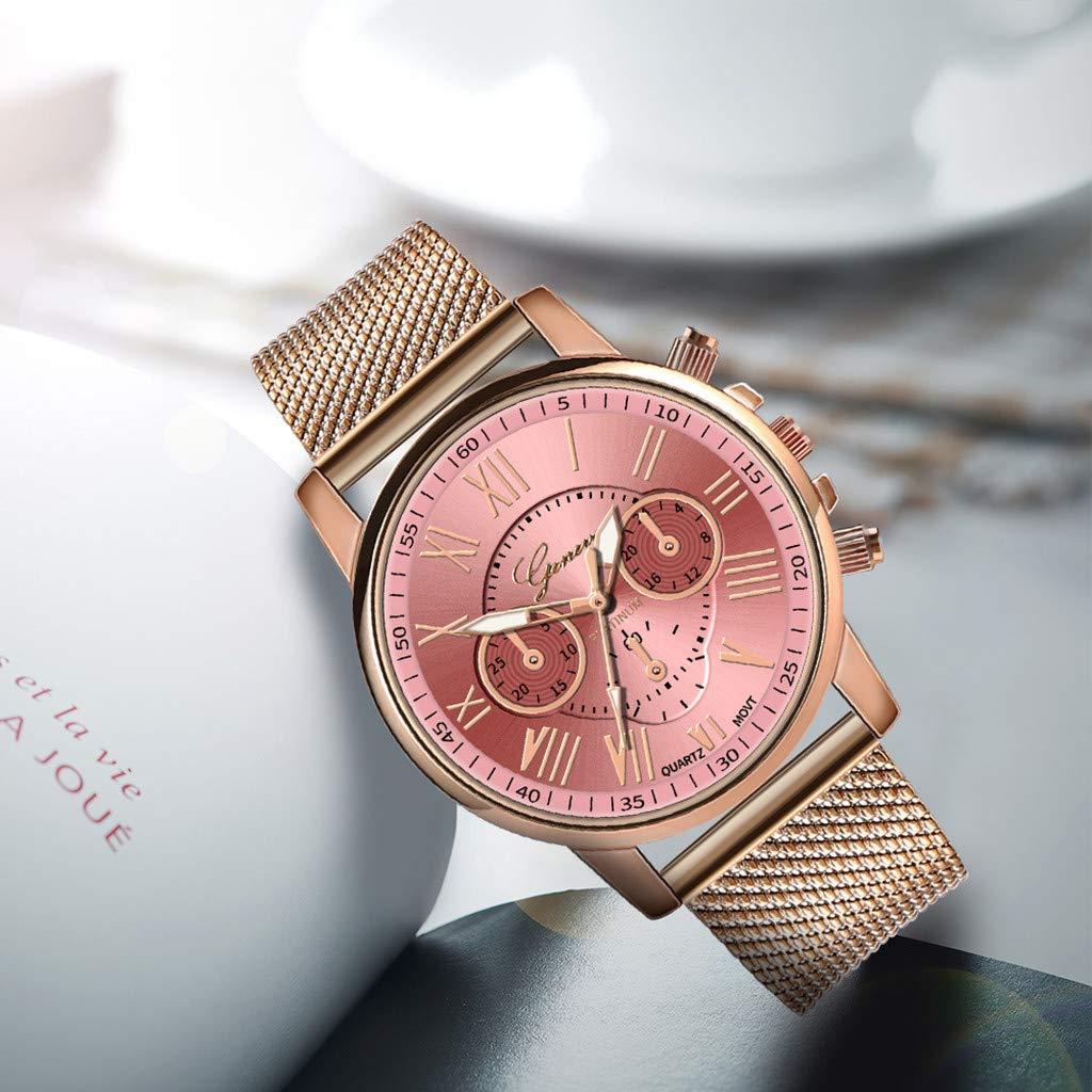 Pocciol Fashion Military Stainless Steel Quartz Watch Womens Casual Watch Luxury Analog Wristwatch (Pink) by Pocciol Cheap-Nice Watch (Image #7)