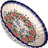 Polish Pottery Ceramika Boleslawiec-1212/280 Motif Pie Baker, Royal Blue Patterns, Small
