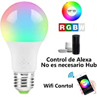 MINQISU Foco Inteligente, Foco LED Regulable, Funciona con Alexa y Google Home, Luces Multicolor cambiantes de Color, E27 4.5W