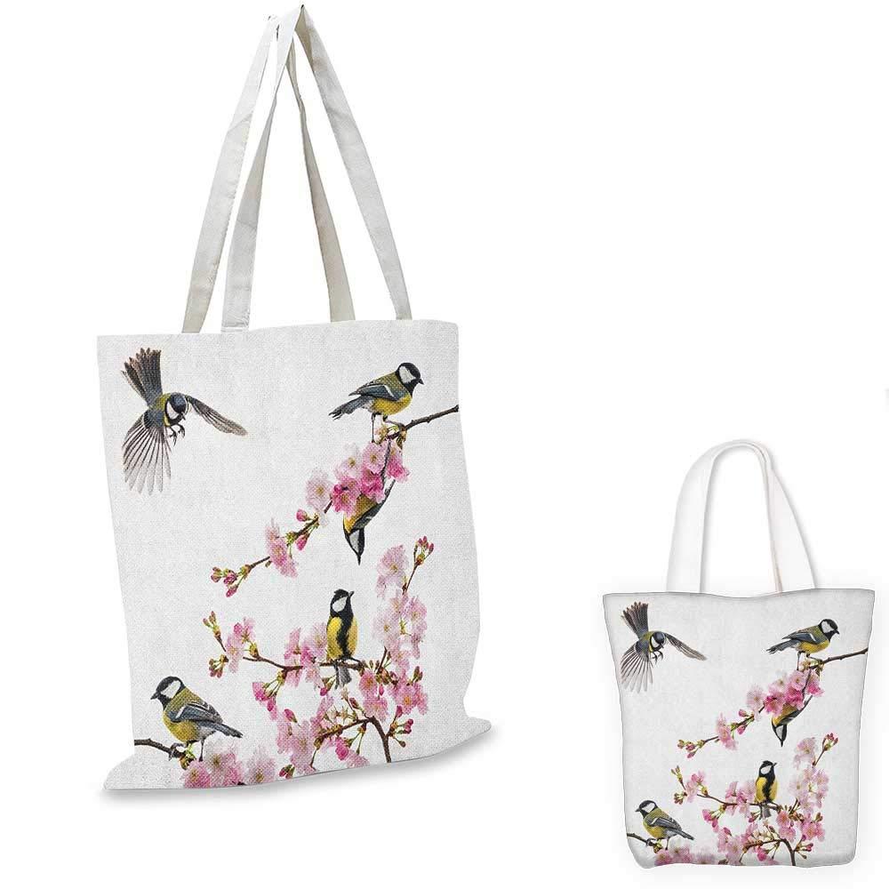 日本の桜の枝の鳥 飛んでいる鳥の枝 空気のばれ色 赤とグレーのエクリュ 14