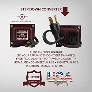 ACUPWR AJD-1400 1400-Watt 110-120 Volts to 100 Volt Step Down Voltage Transformer/ Converter Ideal for KitchenAid mixers, Friedrich window ACs, LG refrigerator, DeLonghi slow cooker