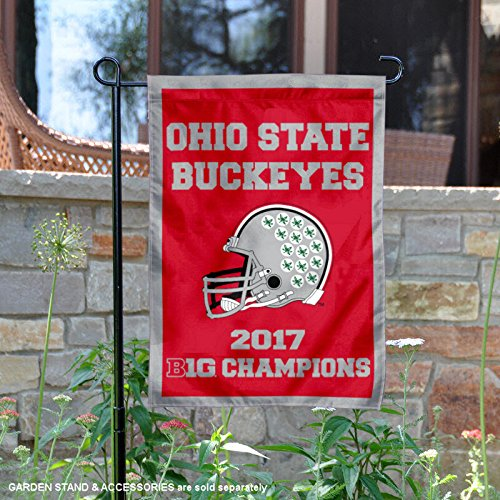 Ohio State Buckeyes 2017 Big 10 Football Champions Garden Flag (Flags Big Ten)