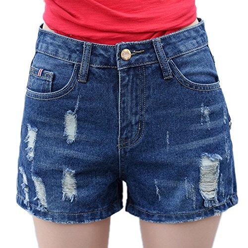 カロリー狐破壊的レディース ショートパンツ 夏 カジュアル デニム ショートパンツ ゆったり 流行る 大きいサイズ ショート パンツ ダメージ加工 おしゃれ