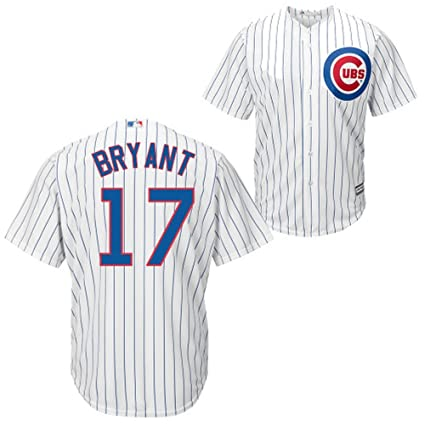 6dc07ac443c Amazon.com : Kris Bryant Chicago Cubs Cool Base White Kid's Replica ...