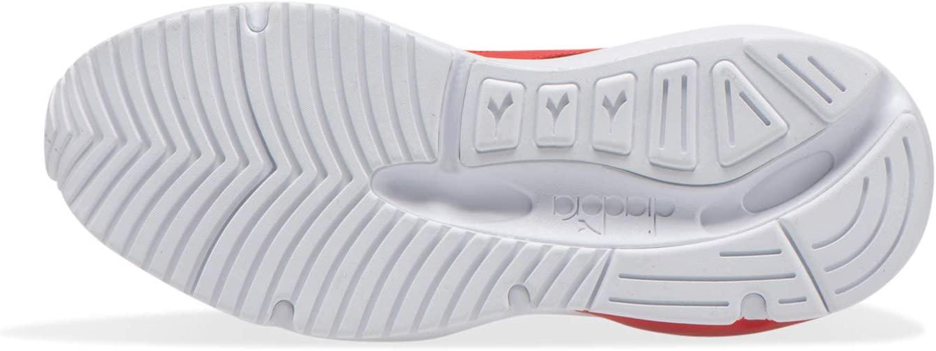 Diadora Heren Whiz Run lederen sneakers, Grijs C8468 Rosso Pomodoro Bianco Blu Cobalto fGaSiFgZ
