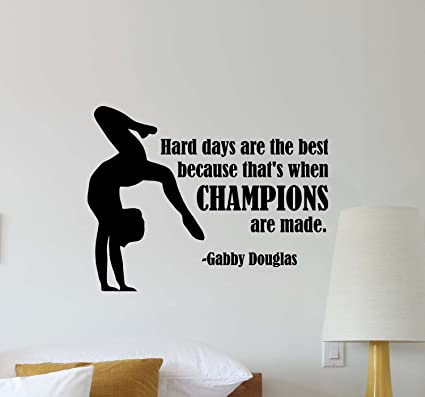 Amazon.com: gabby douglas quote wall decal hard days are the best