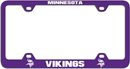 RICO INDUSTRIES Minnesota Vikings License Plate Metal Team Color One size