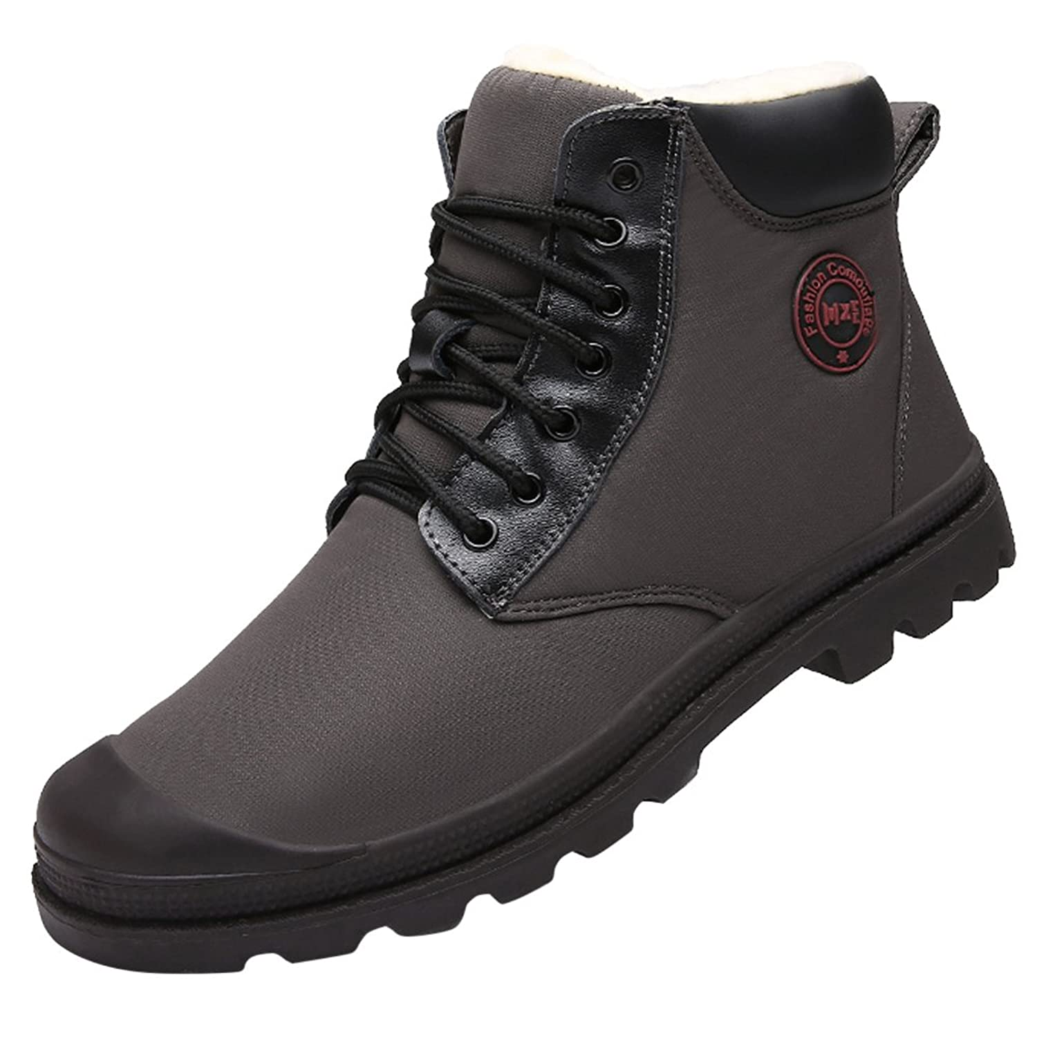 Men's Warm Snow Boots Lace Up Ankle Waterproof Sneakers High Top Shoes:  Amazon.ca: Shoes & Handbags