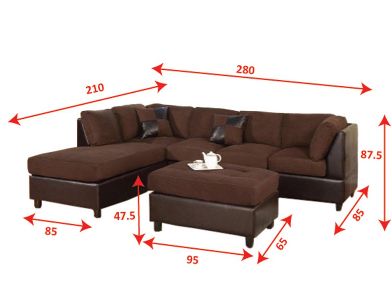 Kitchen Sofa Furniture Amazoncom Bobkona Hungtinton Microfiber Faux Leather 3 Piece