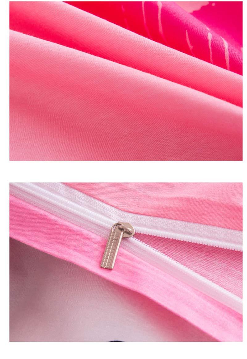 Giovanna GIO063 Queen Rosa Beso Juego de Cama 4 Piezas para Cama 135cm 1x Funda N/órdica para Edred/ón Reversible 1xS/ábana Bajera 2X Funda de Almohada Hello Kitty Reversible Tacto Suave