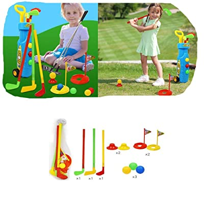 Villeur Children Golf Toy Set Outdoor Indoor Kids Puzzle Parent-Child Sports Toy: Clothing