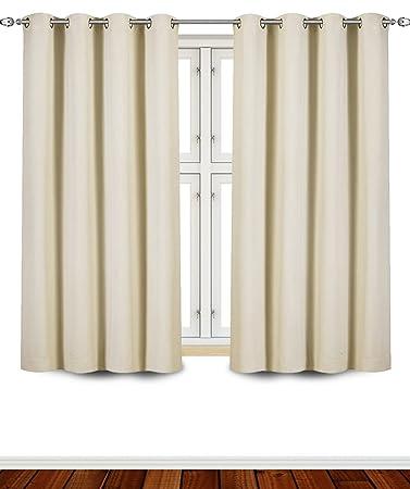 Gardinen, Vorhang Blickdicht Mit Ösen Vorhänge Für Schlafzimmer Wohnzimmer,  Wärmeschutz Mit Geräuschreduzierung, 137CM