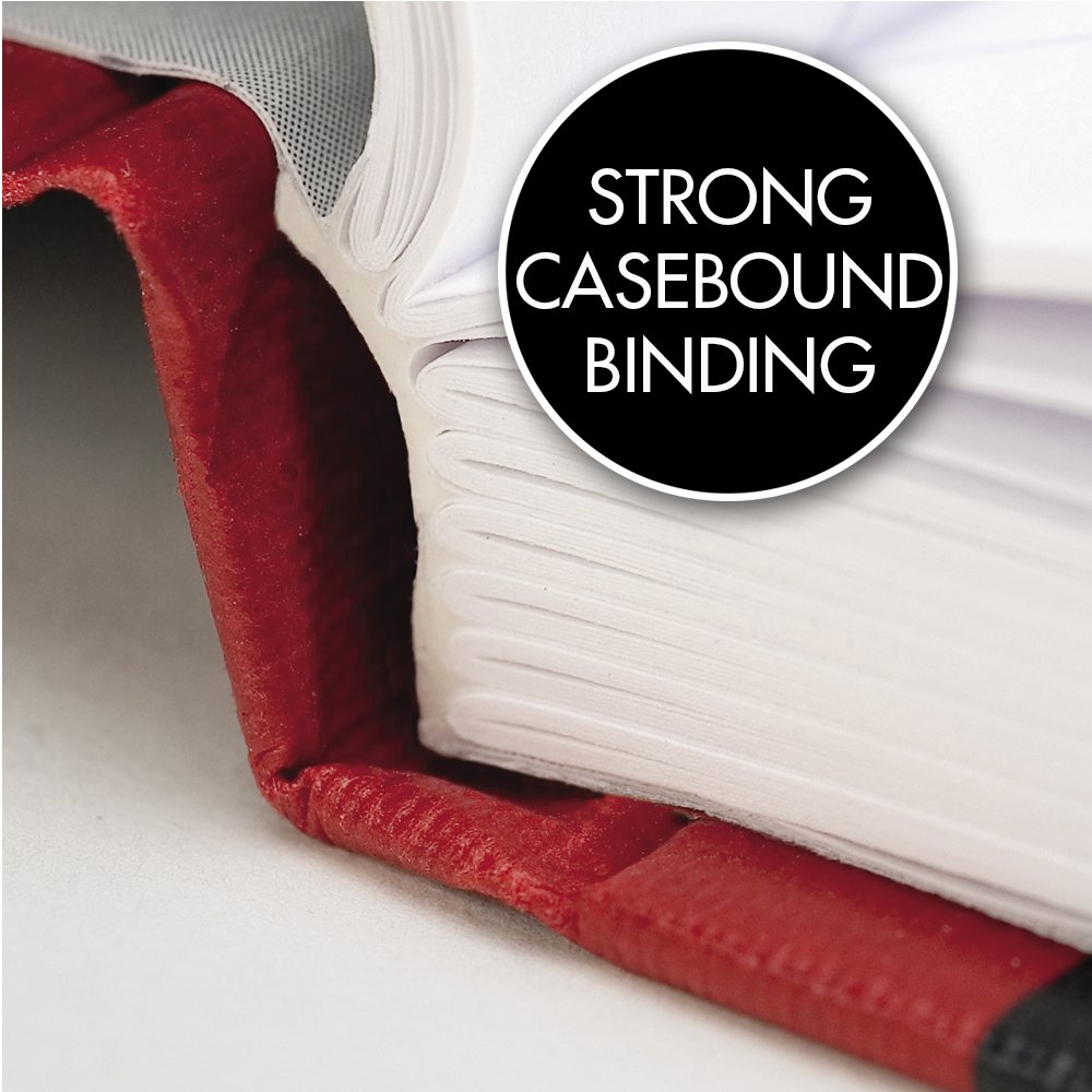 Black//Red 11-3//4 x 8-1//4 D66174 Black n Red Casebound Hardcover Notebook 96 Ruled Sheets