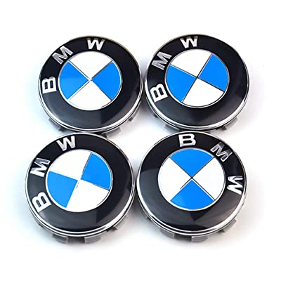 4PCS 56mm/2.2inch Wheel Center Caps Emblem for BMW, Rim Center Hub Caps for All Models with BMW Wheels Logo: Automotive