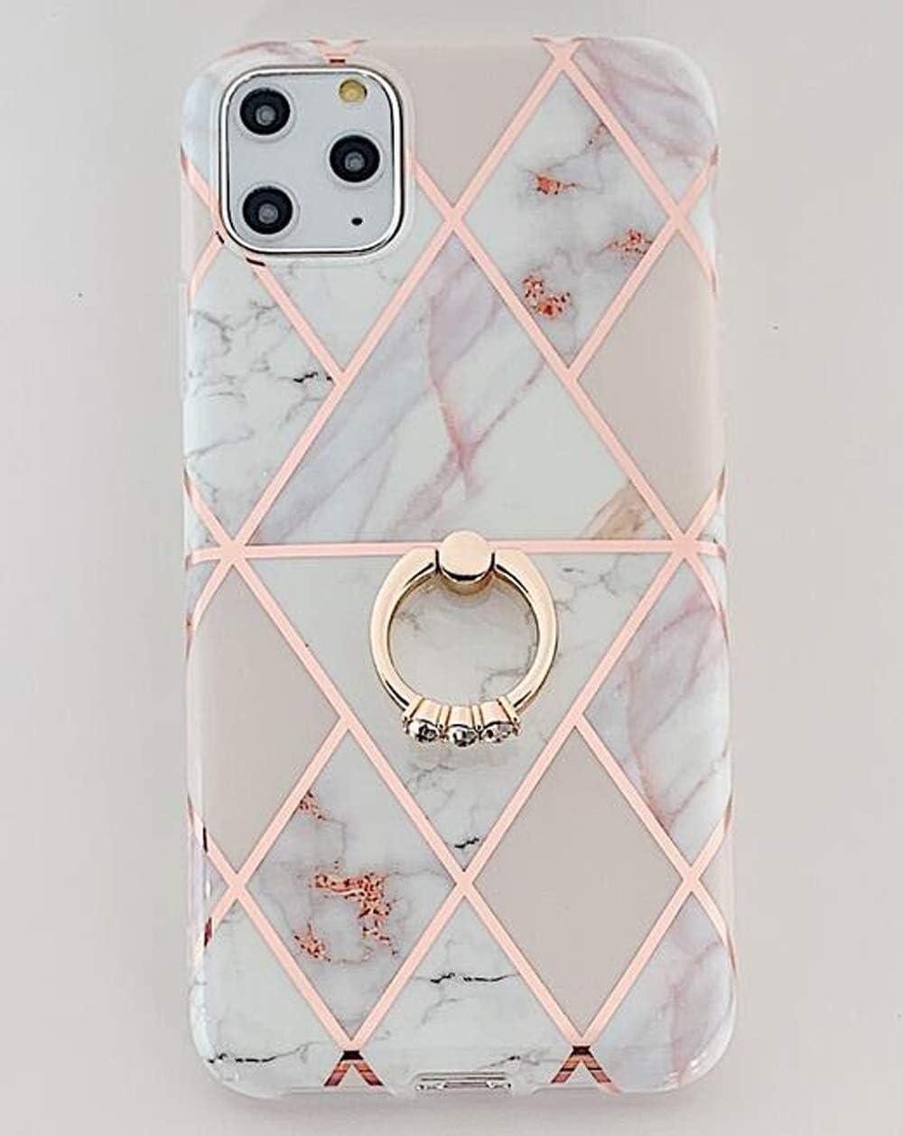 MoreChioce compatible avec Coque iPhone XS,Coque iPhone X Marbre Souple Gel Silicone /Étui avec Ananas Transparent avec Strass Glitter Sparkle Dur Protection Case Rigid Cover Skin,Bague Marbre Gris