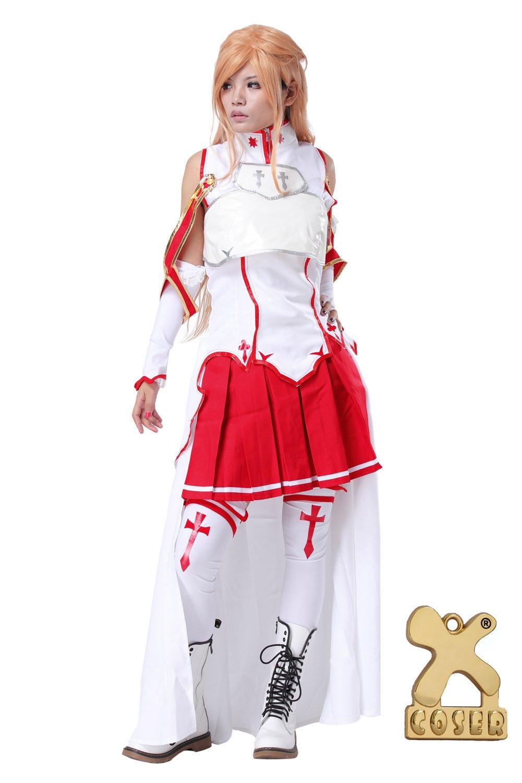 Sword Art Online Asuna Yuuki Cosplay Costume in XXL Größe