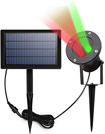 Amazon.com: LED Solar Luces del proyector, yaoxi Rojo y ...