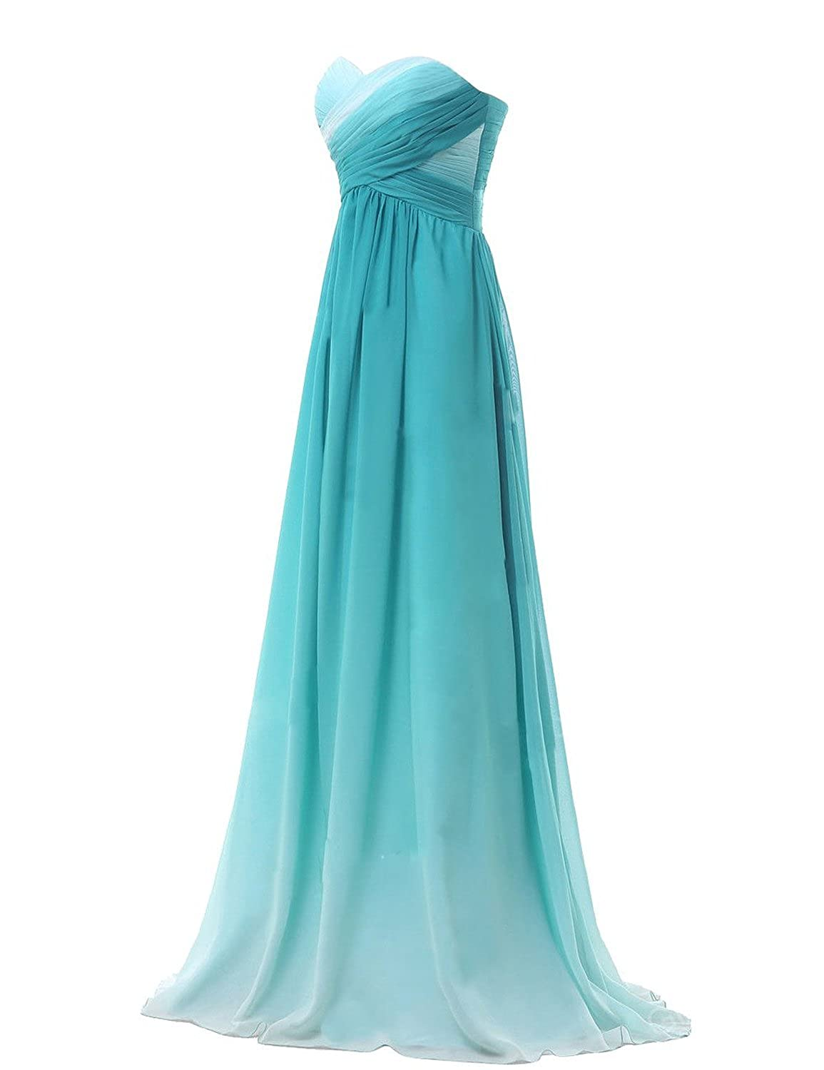 Sweetheart Women\'s Formal Evening Gowns Chiffon Long Bridesmaid Prom ...
