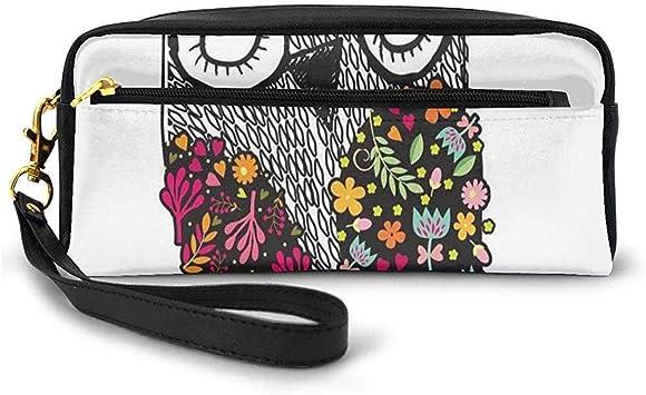 Dibujo Infantil Arte de pájaro con Flores de Colores Garabato Abstracto Inspirado en la Naturaleza Bolsa de Maquillaje pequeña Estuche de lápices 20cm * 5.5cm * 8.5cm: Amazon.es: Equipaje