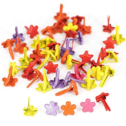 Mini Brads Borte Pastell Runde Brads Multicolor Papier Handwerk Stanzen Scrapbooking DIY Tool 500 St/ück