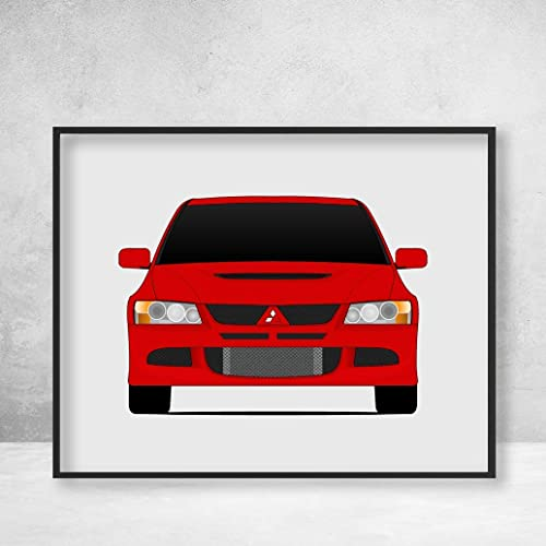 Amazon Com Mitsubishi Lancer Evolution Viii Ct9a Poster