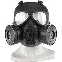 SGOYH Táctico Máscara Facial táctica del Gas de la Niebla de la Lente Transparente simulada táctica con el Engranaje de…