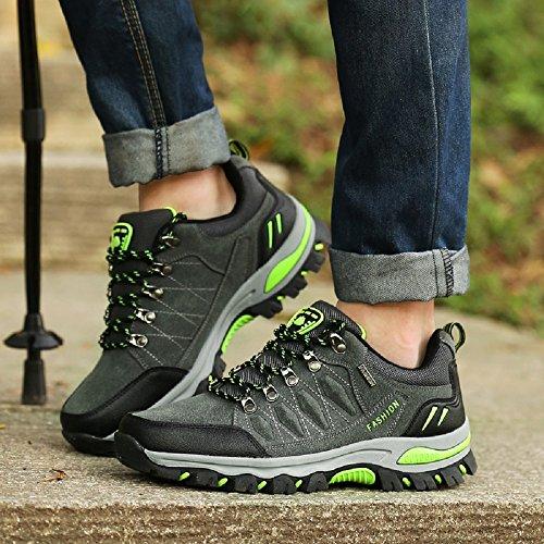 Conducción de NEOKER Tamaño hombre 3 Zapatillas Escalada 10 senderismo Zapatillas para Trekking aire al top deporte de top mujer deporte de con Unido Gris para Zapatillas deportivas libre Reino 5AnTgwqAr
