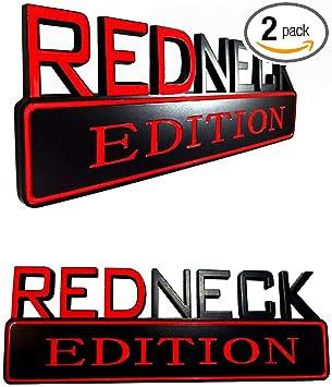 1000/% REDNECK EDITION EMBLEM car TRUCK boat DECAL logo SIGN RED NECK *new*