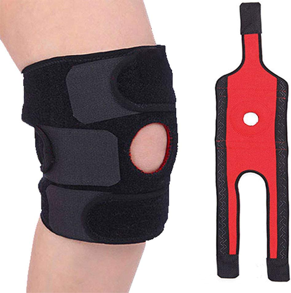 Sports Tendon Elasticity Breathable Guard Support Brace Knee Pad Leg Protector
