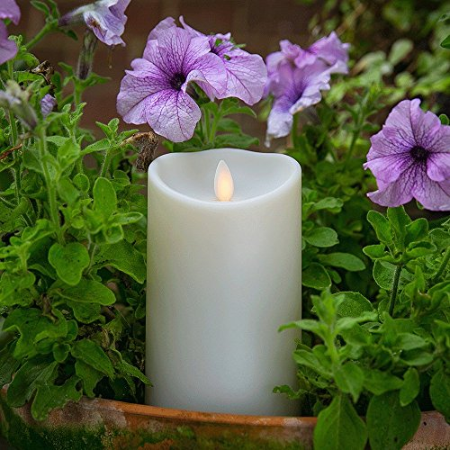 Luminara Outdoor Flameless Candle: Plastic Finish, Unscented Moving Flame Candle with Timer (9'' Ivory) by Luminara (Image #4)