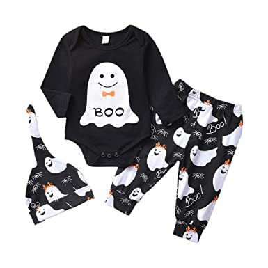 UK Newborn Baby Boy Girl Long Sleeve Tops Jumpsuit Pants Hat Outfits Clothes Set