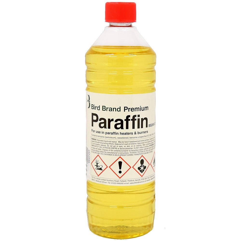 Bird Brand Premium Paraffin Fuel for Heaters Lamps and Torches - 1 Litre