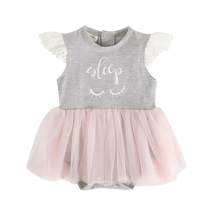Amazon.com: Sanlutoz Tulle Tutu Princesa Vestido de bebé ...
