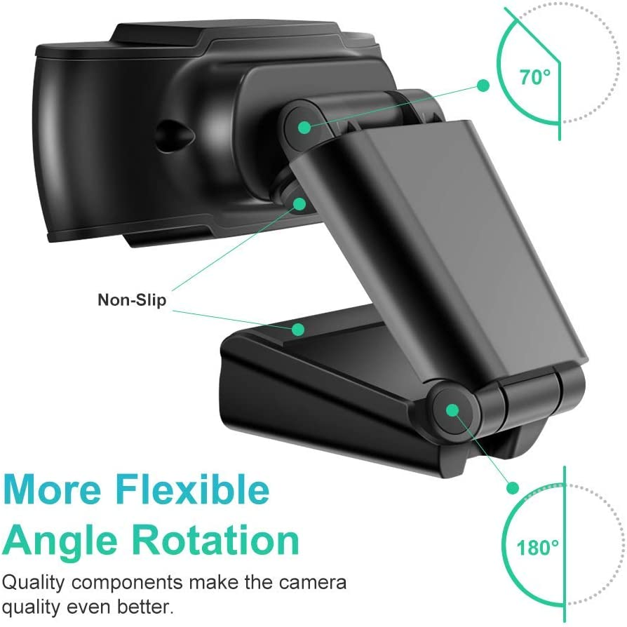 StillCool Webcam 1080P FHD PC Webcam con micr/ófono grabaci/ón juego con clip giratorio nero5 c/ámara PC Desktop USB 2.0 para videollamadas conferencia estudio