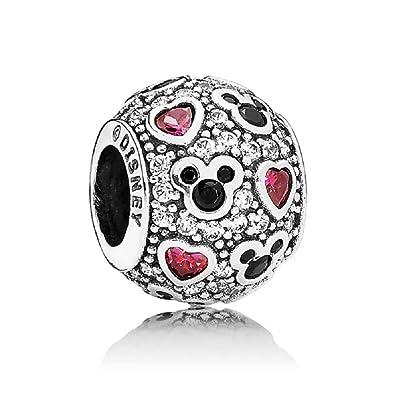 411eef5ab Amazon.com: Pandora Disney Sparkling Mickey with Hearts Charm 791457CZ:  Jewelry