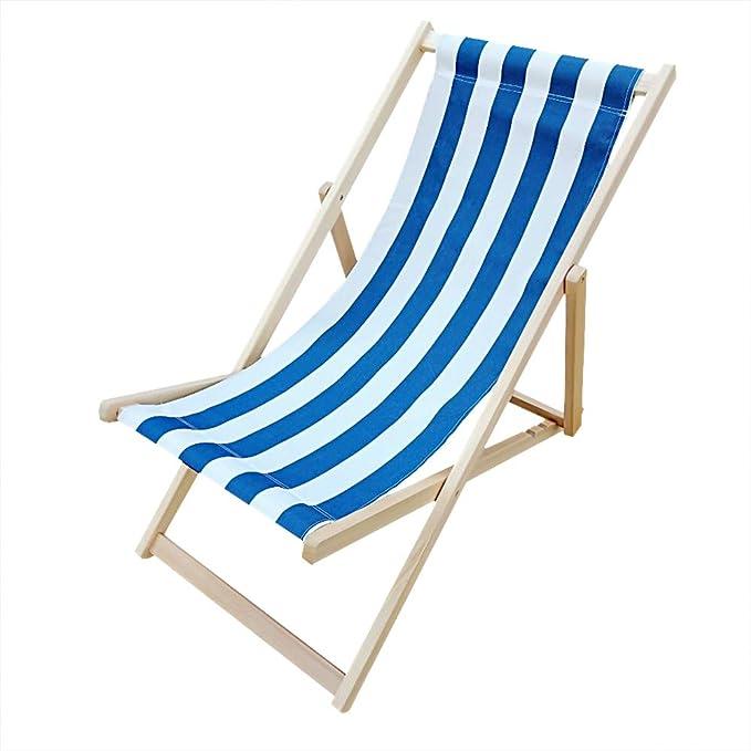 Woodside Tumbona Plegable de Madera para Playa, jardín ...