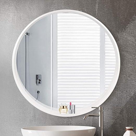Amazon Com Lqy Bathroom Mirror Solid Wood Round Vanity Mirror
