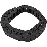 Chaîne Porte-Câbles Chaîne de Dragage en Nylon Renforcé Noir 15 mm x 30 mm pour Entourer et Guider les Câbles, 1 Mètre de Longeur