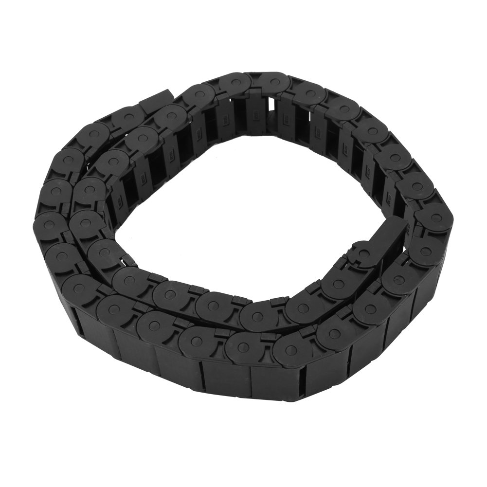 Cable Drag Chain, 15mm x 30mm Black Reinforced nylon CNC Machine Tool Cable Wire Carrier 1M